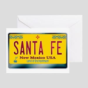 """SANTA FE"" New Mexico License Plate Greeting Card"