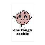 One Tough Cookie Sticker (Rectangle 10 pk)