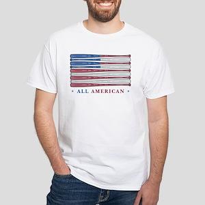Baseball Flag White T-Shirt