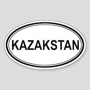 Kazakstan Euro Oval Sticker