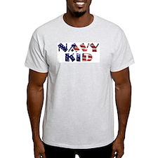 Navy Kid Ash Grey T-Shirt