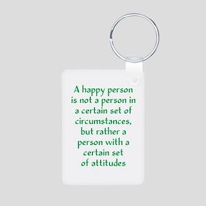 Happy Person Aluminum Photo Keychain