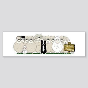 Sheep Family Sticker (Bumper)