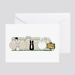 Sheep Family Greeting Card
