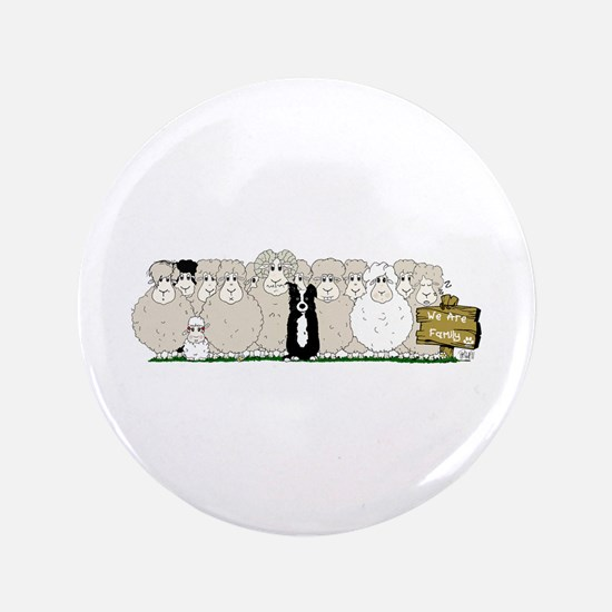 "Sheep Family 3.5"" Button"