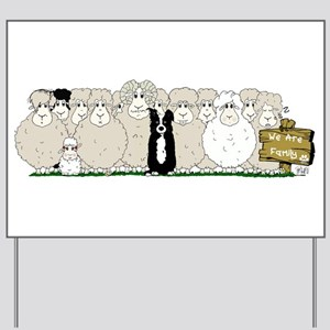 Sheep Family Yard Sign