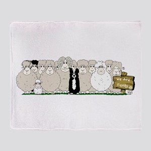 Sheep Family Throw Blanket