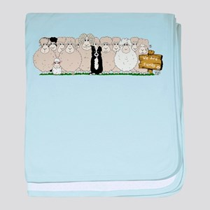 Sheep Family baby blanket