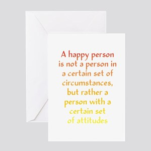 Happy Person Greeting Card