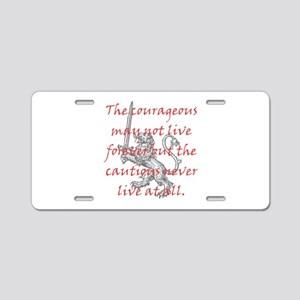 Lion Sword Courageous Aluminum License Plate