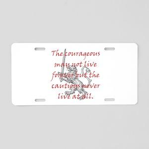 Lion Sword Courageous Aluminum License Plate