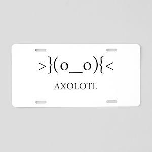 Axolotl Emoticon Aluminum License Plate