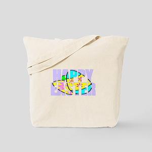 Happy Easter Eggs Tote Bag