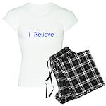 Blue I Believe Women's Light Pajamas