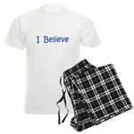Blue I Believe Men's Light Pajamas