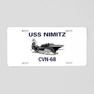 USS NIMITZ Aluminum License Plate