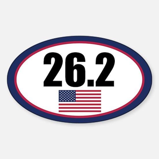 United States full marathon oval sticker