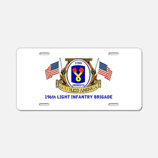 175TH ENGINEER CO. Aluminum License Plate