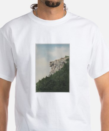 Old Man of the Mountain White T-Shirt