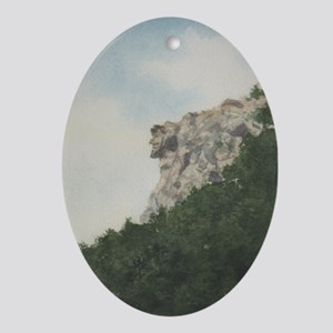 Old Man of the Mountain Oval Ornament