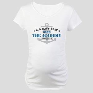 US Navy Academy Base Maternity T-Shirt