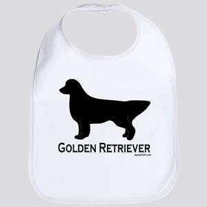 Golden Retriever Silhouette Bib