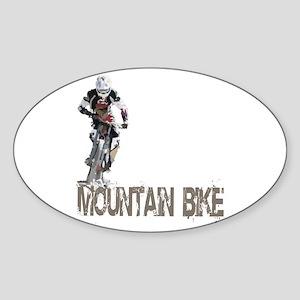 Mountain Bike Left Sticker (Oval)