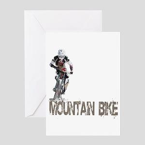 Mountain Bike Left Greeting Card