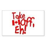 Take Off, Eh! Sticker (Rectangle)