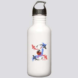 YIN AND YANG FISH Stainless Water Bottle 1.0L