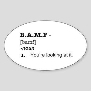BAMF Sticker (Oval)