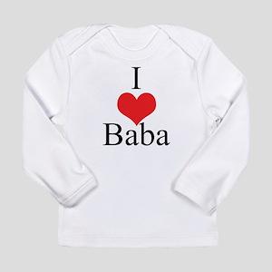 I Love (Heart) Baba Long Sleeve Infant T-Shirt
