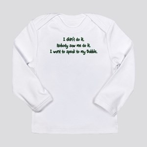 Want to Speak to Bubbie Long Sleeve Infant T-Shirt