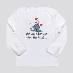 Gammy's Home is Where the Hea Long Sleeve Infant T