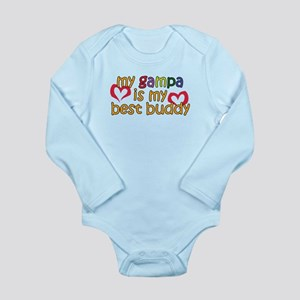 Gampa is My Best Buddy Long Sleeve Infant Bodysuit