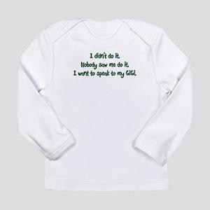 Want to Speak to GiGi Long Sleeve Infant T-Shirt