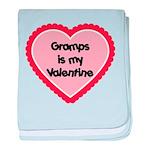 Gramps is My Valentine baby blanket