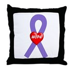 Violet Hope Throw Pillow