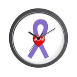 Violet Hope Wall Clock