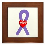 Violet Hope Framed Tile