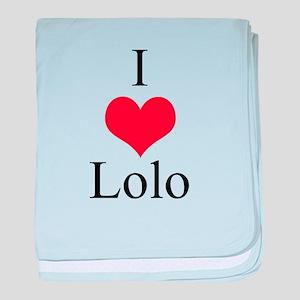 I Love (Heart) Lolo baby blanket