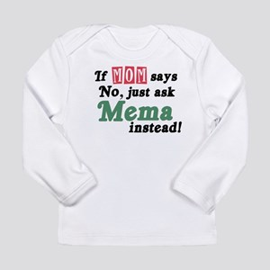 Just Ask Mema Long Sleeve Infant T-Shirt
