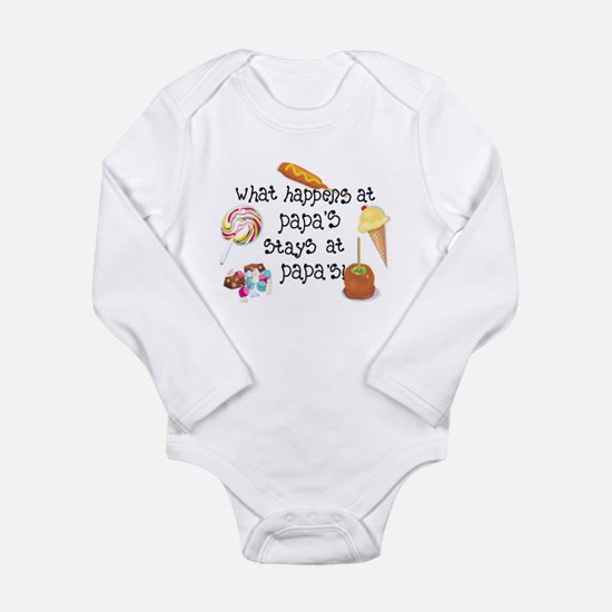 What Happens at Papa's... Long Sleeve Infant Bodys
