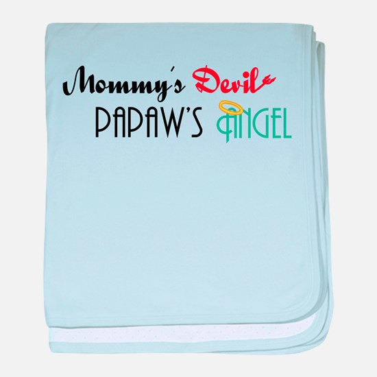 Mommy's Devil, Papaw's Angel baby blanket