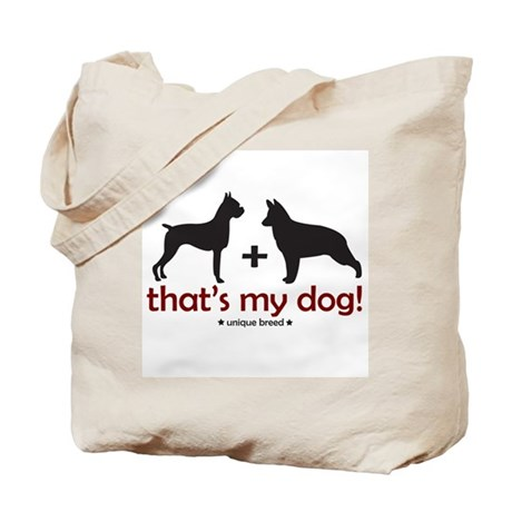 German Shepherd/Boxer Tote Bag