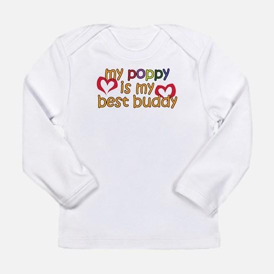 Poppy is My Best Buddy Long Sleeve Infant T-Shirt