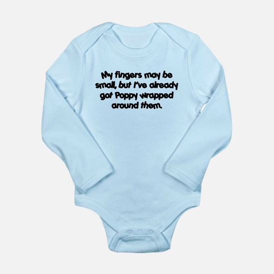 Poppy's Wrapped (black) Long Sleeve Infant Bodysui