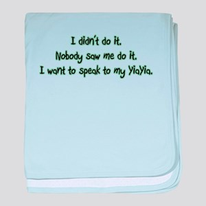 Want to Speak to YiaYia baby blanket