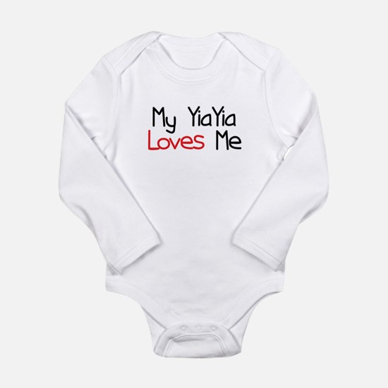 My YiaYia Loves Me Long Sleeve Infant Bodysuit