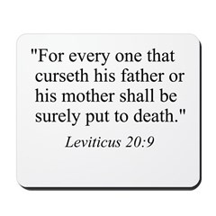 Leviticus 20:9 Mousepad